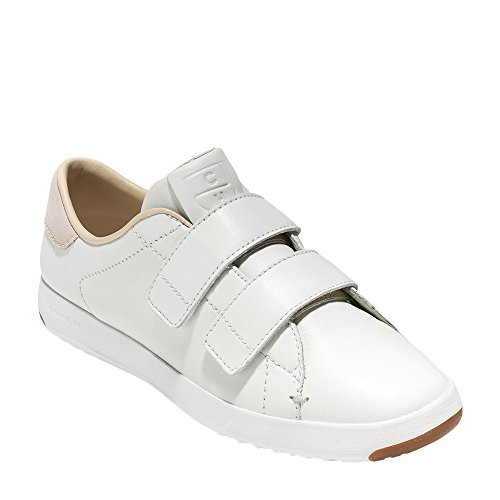 Cole Haan Donna S Grandpro Due Cinturino Sneaker In Pelle Bianca Opaca-pelle Scamosciata
