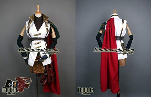 Final Fantasy XIII Lightning Cosplay Halloween Costume Game for Cosplay Show Party Men Women,XS