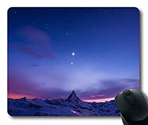 Custom Amazing Mouse Pad with Matterhorn Alps Switzerland Italy Non-Slip Neoprene Rubber Standard Size 9 Inch(220mm) X 7 Inch(180mm) X 1/8 Inch(3mm) Desktop Mousepad Laptop Mousepads Comfortable Computer Mouse Mat