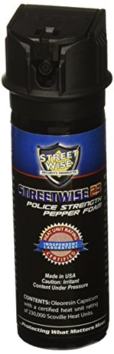 Streetwise Security Products Police Strength Streetwise 23 Pepper Spray, 3-Ounce, Pepper Foam