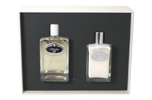 (Prada Infusion D'Homme Gift Set for Men (Eau De Toilette Spray, Aftershave Balm))