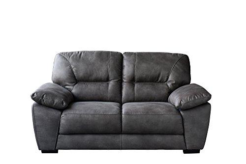 Avanti Dark Grey Soft-Touch Fabric Loveseat by Diamond Sofa - # AVANTILODG by Diamond Furniture
