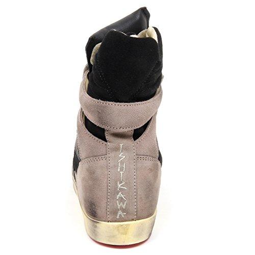 donna black tortora Nero sneaker taupe shoe ISAD nero ISHIKAWA Tortora scarpe D2518 woman fZO5nqxZ