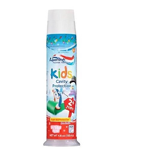 (Aquafresh Kids Cavity Protection Toothpaste, Bubblemint 4.6 oz(pack of 2))