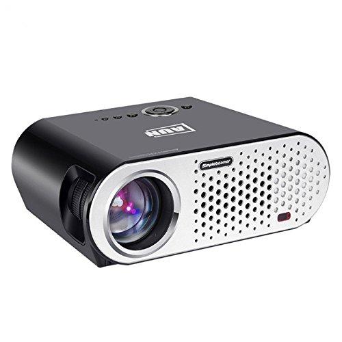 200inchの画像スクリーン1280x800ホームシネマのフルHDビデオWXGA LEDのLED液晶プロジェクターHDMI VGA 1080Pホームシアタープロジェクター B071FFN23J