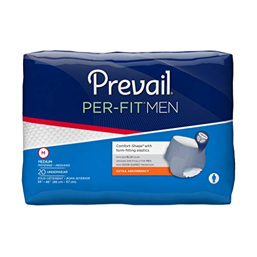 Prevail Per-Fit for Men Extra Absorbency Incontinence Underwear, Large, ()