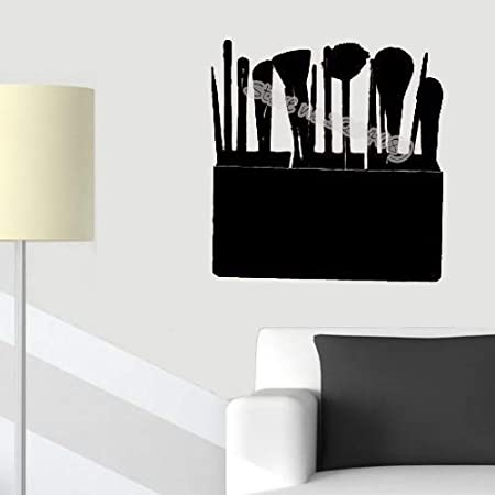 supmsds Estuche cosmético Pinceles de Maquillaje Etiqueta de la Pared Estudio de Maquillaje Moda Salón de Belleza Chica Mujer Fondos de Pantalla cosméticos95X95CM: Amazon.es: Hogar
