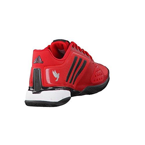 adidas Herren Novak Pro Clay Tennisschuhe Rot(Reared/Cblack/Ftwwht)