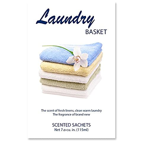 Scented Sachets Laundry Basket, 7.0 cu.in   Pack of 4. - Cinnamon Scented Perfume