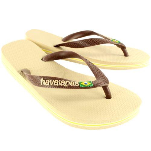 Kvinnor Havaianas Logo Halka På Flip Flops Sommar Strand Sandaler Nya Sand Grå