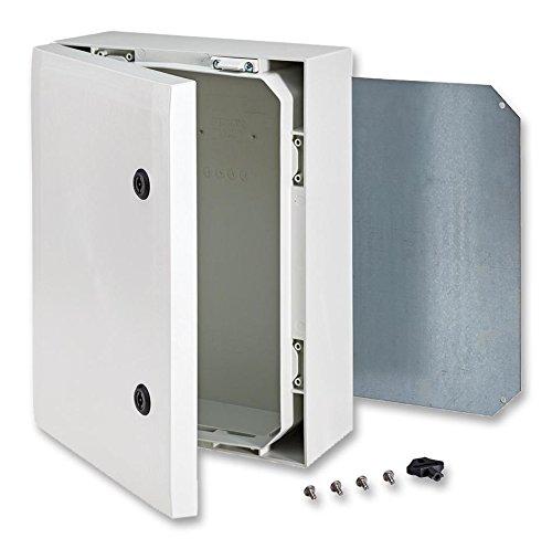 Fibox Enclosures ARCA 403015 No-MP Non-Metallic Polycarbonate Enclosure with Double-Bit Locking Opaque Cover, 5.9
