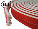 VITAM AMO Weather Stripping Door/Window Seal Strip 19.5 Feet, Soundproof Design Self-Adhesive Backing Seals Medium Gap (from 1/8'' to 15/64''), Easy Cut to Size