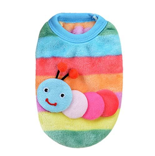 (Pet Clothes, OOEOO Cute Dog Cat Sweater Puppy Clothing Small Doggie Shirt Soft Coat (Multicolour B, L))