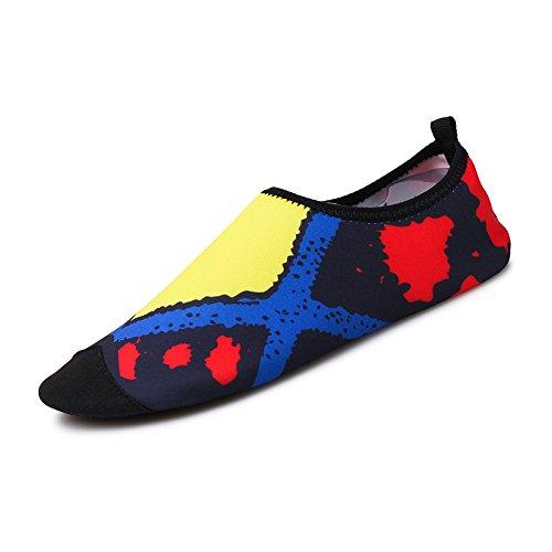 amarillo natación playa Lucdespo cuidado Ultra transpirables la light 1 esquí Skid de de acuático zapatos zapatos cuadrado piel calzado SK Anti qH1Sq