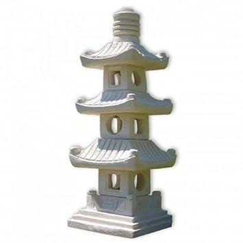 Steinfigur 3-stöckige Pagode Asiastyle Thailand asiatischer Garten ...