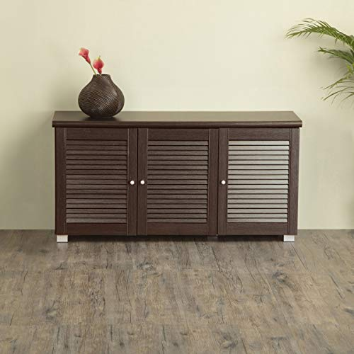 LD Home Centre Lewis Three Door Low Height Shoes Cabinet 18 Shoes