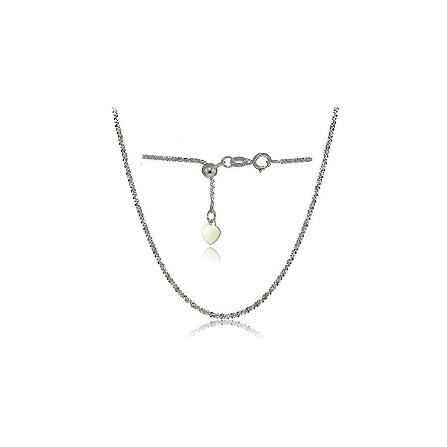 Bria Lou 14k Gold 1.3mm Italian Rock Rope Adjustable Chain Anklet, 9 11 Inches