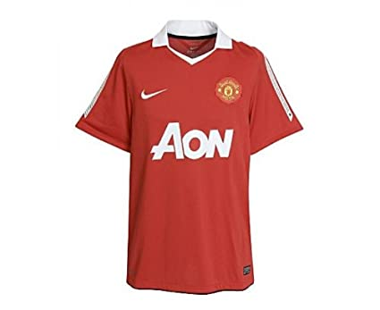3281bbc1d8c Nike Manchester United Home Short Sleeve Jersey 2010/2011, Size L Red:  Amazon.co.uk: Clothing
