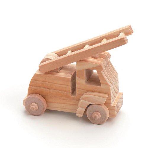 Darice 9163-50 Wood Fire Truck - Fire Kids Truck Crafts For