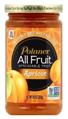 Polaner Spreadable Fruit, Apricot 15.25 oz (6 Pack) by Polaner