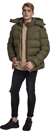 Hombre Boxy Chaqueta Olive para Jacket Classics 00176 Verde Hooded Urban Puffer wqxFOBZg