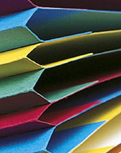 con 12/scomparti e elastico giallo formato A4 Exacompta cartellina in cartone manila 400/g rilegato