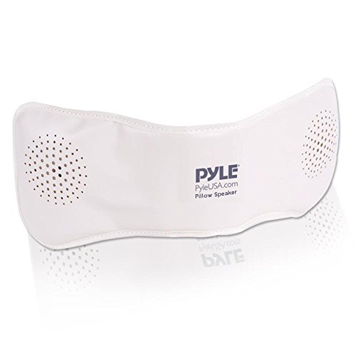 Pyle Ppsp18 Bluetooth Pillow Speaker  Rechargeable Portable Sleep Therapy Noise Sound Machine With Soothing All Natural Sounds Remote Control   Aux Input   1 Gb Built In Memory