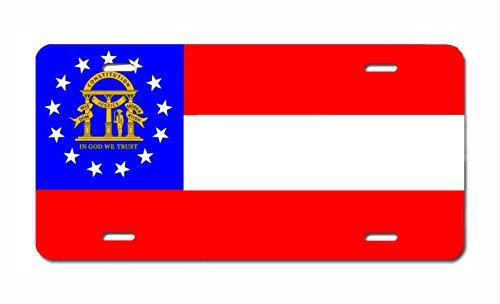 Carpe Diem Designs U.S. State Flag Front Plate License/Vanity Plate – Made in The U.S.A. (Georgia) ()