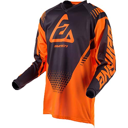 Answer Racing A19 Syncron Drift Youth Boys Off-Road Motorcycle Jersey - Flo Orange/Charcoal / Large