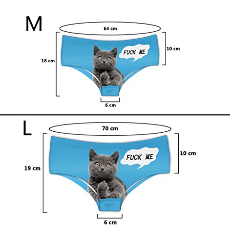 583e8145d1cd Women's Fashion Flirty Sexy Funny Naughty 3D Printed Cute Animal Underwears  Briefs Gifts