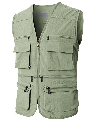 H2H Mens Lance Bodywarmer/Gilet (Windproof & Showerproof) Vest Beige US XL/Asia 2XL (KMOV0148) Athletic Windproof Vest