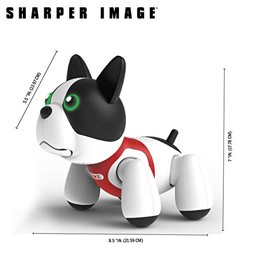 Sharper Image RC Toy Duke The Trainable Robotic Puppy Dog with Smart Bone, Virtual Robot Pet for Kids, Barks and Plays Tricks on Command, Responds to Touch and Voice by Sharper Image (Image #3)