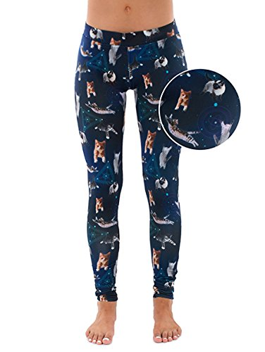 Cats in Space Leggings - Galaxy Leggings with Cats Tights