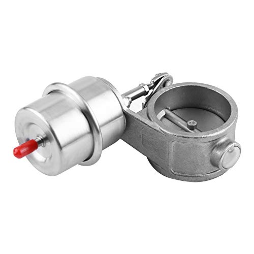 Car Exhaust Pipe Valve, Exhaust Control Valve Boost Vacuum Activated Exhaust Cutout/Dump 2in Closed Style: