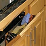 3 in. x 11.63 in. x 3 in. Steel Sink Front Tray with Stops Cabinet Organizer