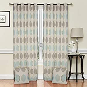 Elite Barn Cotton Print Pattern, Multi Color - Pair Curtain Panels