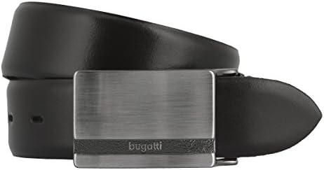Cintur/ón de piel para hombre color negro Bugatti 8399