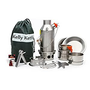 kelly kettle ultimate stainless steel small trekker camp stove kit boil water. Black Bedroom Furniture Sets. Home Design Ideas
