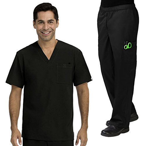 Med Couture MC2 Sport Men's Scrub Top & MC2 Men's Cargo Scrub Pant Set by Med Couture