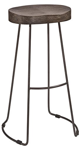 Bar Stool Black Hillsdale Furniture (Hillsdale Hobbs Tractor Non-Swivel Bar Stool, Pewter/Weathered Gray)