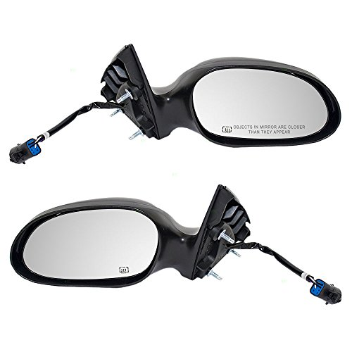 Pair Set Power Side View Mirrors Heated w/Textured & Ready-to-Paint Covers Replacement for 00-07 Ford Taurus 00-05 Mercury Sable 1F1Z17683BA 1F1Z17682BA AutoAndArt ()
