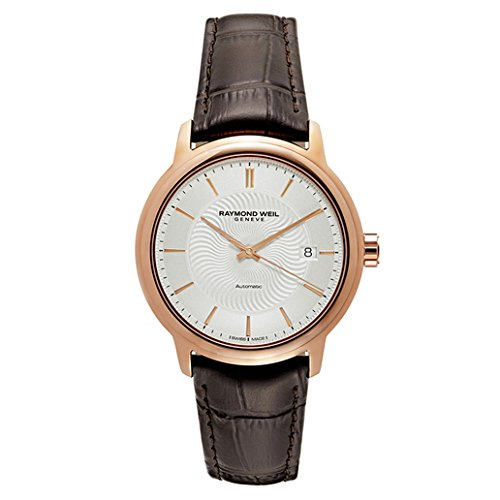 raymond-weil-mens-maestro-swiss-stainless-steel-and-leather-automatic-watch-colorbrown-model-2237-pc