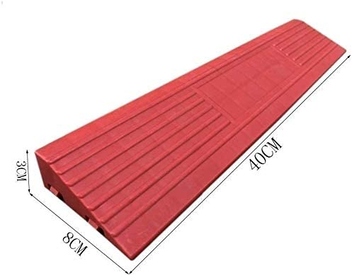 Color : Red, Size : 4083CM Non-slip Multifunctional Uphill Pad Kerb Ramps Household Wheelchair Ramps The Mall Hospital Step Ramps Ramps Indoor Ramps