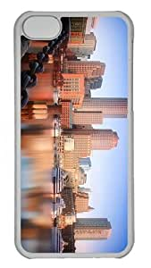 leather covers boston skyline PC Transparent case for iphone 5C