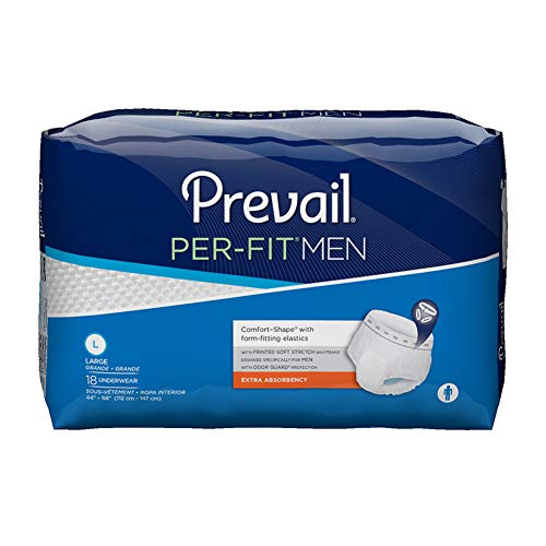 (Prevail PER-FIT Protective Underwear for Men, Extra Absorbency, L (44'-58'), PFM-513 (Case of 72))