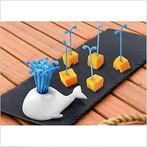 Kitchen Tool Novelty Portable Whale Fruit Cake Salad Forks Kitchen