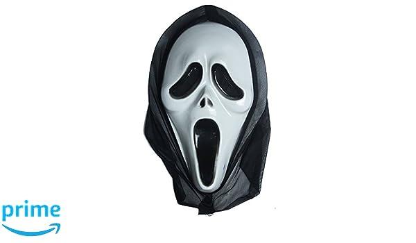 ... Máscara para Disfraz - Traje - Carnaval - Halloween - Monstruo - Asesino - Color Blanco - Adultos - Unisex - Mujer - Hombre - Niños - Scream: Amazon.es: ...