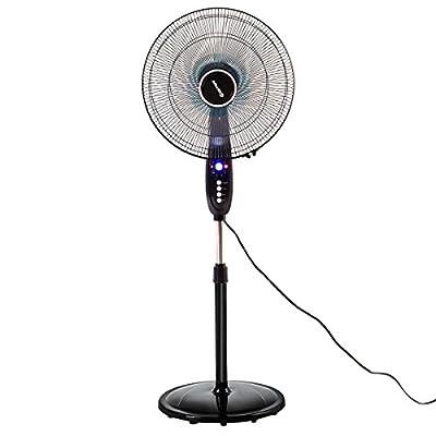 THANYA 16'' Fan Adjustable Oscillating Pedestal Fan Stand Floor 3 Speed