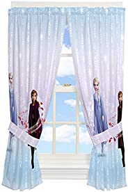 "Franco Kids Room Window Curtain Panels with Tie Backs Drapes Set, 82"" x 63"", Disne"