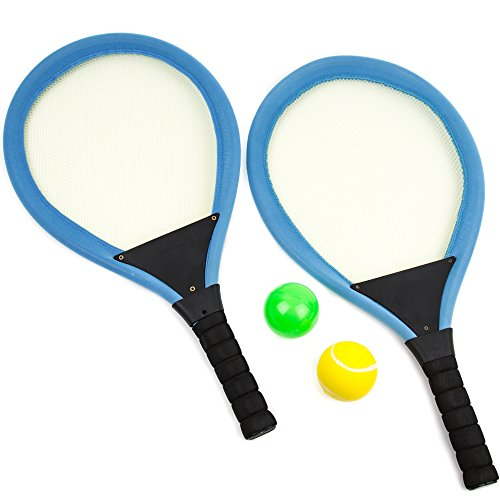 Toysery Badminton Racket Set for Kids - Plastic Tennis Rackets Balls Badminton Set - Indoor Outdoor Sports Play Game Toys for Boys, - Racket Tennis Plastic